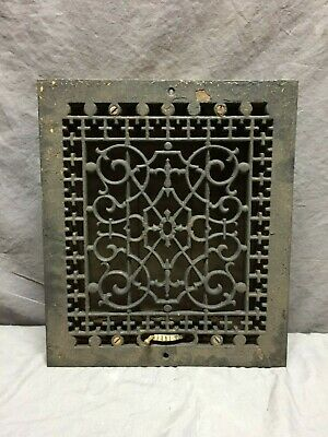 Antique Cast Iron Decorative Heat Grate floor Register 10X12 Vintage 86-19D