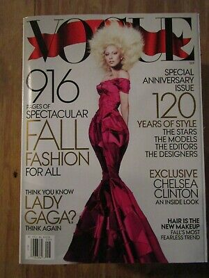 Vogue Magazine with Lady Gaga / 120 Years Of Style / September 2012