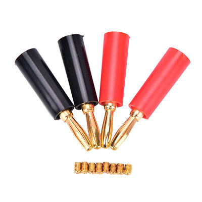 4pcs/lot 4mm gold plated speaker banana connector horn speakers banana plug ZX