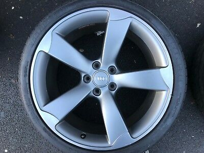 "Genuine Audi A5 S5 S-Line Black Edition 19"" Rotor Alloy Wheel & Tyre 8T0601025Be"