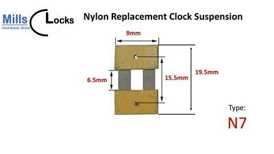 Brass Clock Pendulum Suspension Spring. (30.5mm x 8mm x 15mm)  (Type Q13)