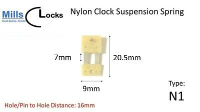 Nylon Clock Pendulum Suspension Spring. (25mm x 7mm x 9mm)  (Type N1)