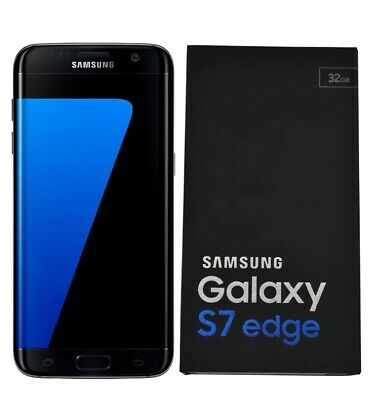 New Boxed Samsung Galaxy S7 Edge SM-G935F 32GB Black Onyx Unlocked - 6M Warranty