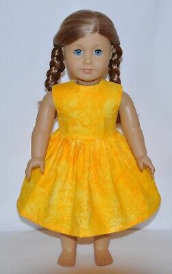 Yellow Floral Doll Dress For American Girl Doll Clothes