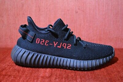 1b38ad521aaa5 WORN ONCE ADIDAS YEEZY Boost 350 V2 BLACK RED Bred Size 7.5 CP9652 ...