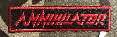 Annihilator Logo Embroidered Patch A079P Anvil Metallica Angel Witch