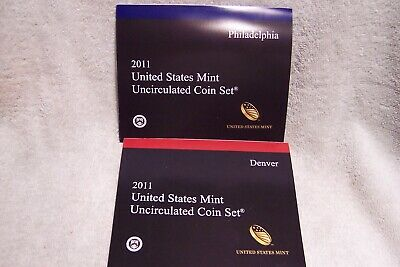 2011Usa Mint Uncirculated Coin Set, 36 Coins,   P And D Mint