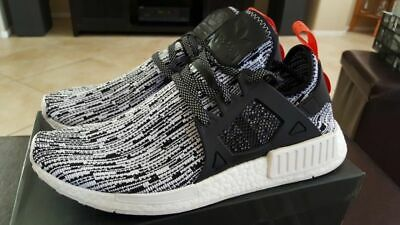 factory authentic 141a7 16115 ADIDAS NMD XR1 Mens Shoes Primeknit Glitch White Black Red Size 11