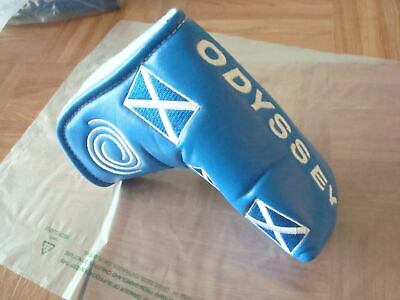 Odyssey Scotland Blade Putter Headcover - Scottish Flag - Magnetic - Brand New