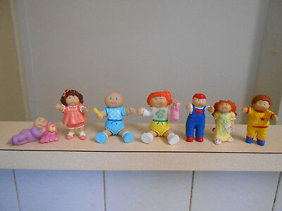 1980s Cabbage Patch Kids PVC figures, two poseable figures