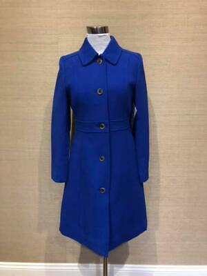 Jcrew 378 Double Cloth Lady Day Coat Thinsulate 0 Regal Blue 49622