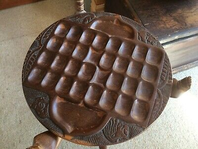 beautiful hand-carved African table from Malawi used to play Bao