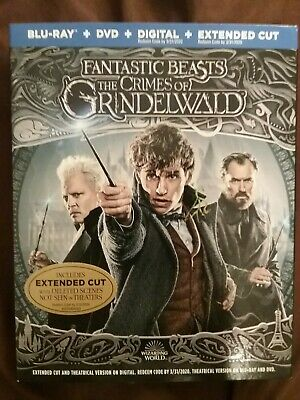 Fantastic Beast: The Crimes of Grindelwald (Blu-ray + DVD + Digital; 2018) NEW