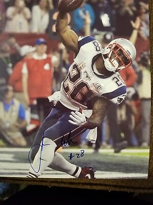 dc88b86b060 James White signed 8x10 photo New England Patriots Wisconsin autographed 2