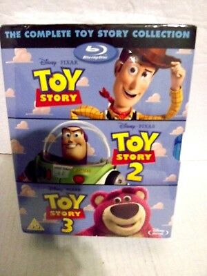 TOY STORY TRILOGY Blu-ray Box Set Complete 1 2 3 Disney & Pixar All 3 Movies NEW