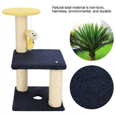 Cat Climbing Tree Tower Furniture Scratching Post Pet House Hanging Play Toy CR