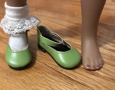 "Boneka 53N Lime Leather Shoes for Dianna Effner 13"" Little Darling Doll sold3"