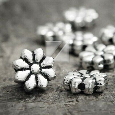 50 Bee Wasp Insect Buzz Beads Spacers Metal Loose Beads Antique Silver 9x13x3