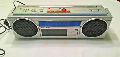 Sony CFS 250 AM/FM Portable Boombox Cassette Player Radio Recorder