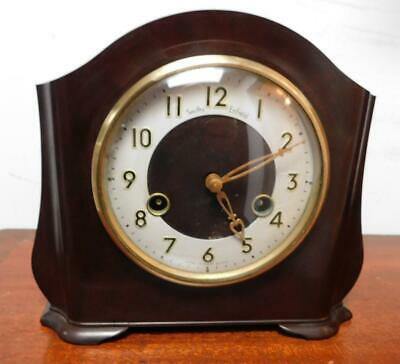 smiths enfield bakelite striking mantel clock