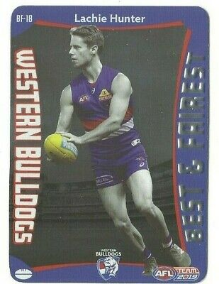 2019 Teamcoach Best & Fairest Western Bulldogs L Hunter Bf18 Card Unused Codes
