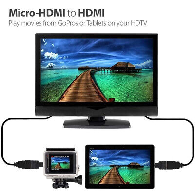 Micro HDMI Male To Female Adapter Converter HDMI Connector Plug For Tablet PC TV