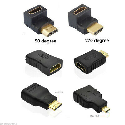 HDMI 1.4 Male To Female Extension Adapter Converter Micro HDMI Cable Connector