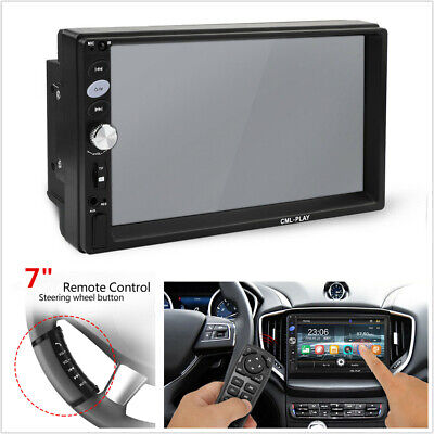 """7"""" 2 DIN Car Stereo MP5 Player FM Bluetooth Video Steering Wheel Remote Control"""