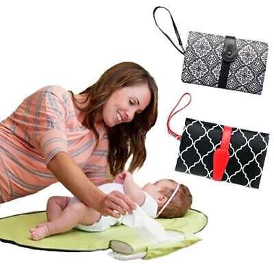 Newborn Baby Nappy Diaper Easy Changing Change Clutch Mat Foldable Pad Handbag n