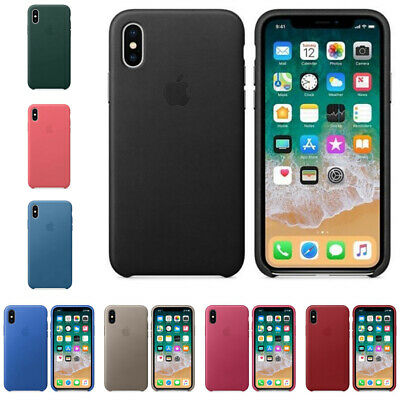 New Leather Case for iPhone XR XS MAX X Premium PU Slim Shell Snap-on Back Cover