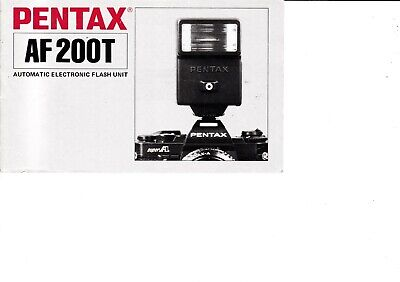 Genuine Pentax Af200T Automatic Flash Unit Manual