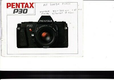 Genuine Pentax Camera P30 Instructions Manual