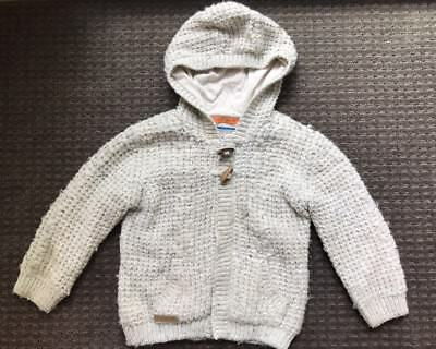 Autograph M&S Baby Toddler Boy Hooded Knit Coat Cardigan Size 2, 18-24 Months