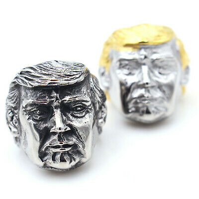 Cool Mens Stainless Steel Gothic Punk Donald Trump Boy Biker Finger Ring Jewelry