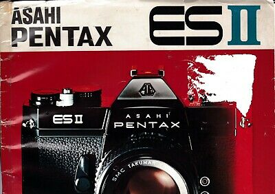 Genuine Original Asahi Pentax Esii Camera Manual Damage To Cover