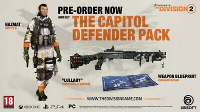 THE DIVISION 2 XBOX ONE , PS4 , PC DLC PREORDER CODE , Capitol Defender Pack