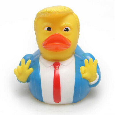 Donald Trump Rubber PVC Duck Bath Duck Squeaky Baby Kids Animals Floats Toy Gift