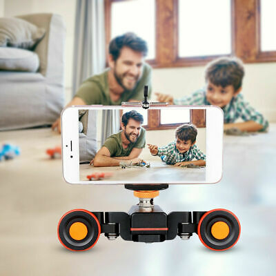 YELANGU L4X Motorized Electric Video Track Motor Dolly Truck Car for Camcorder
