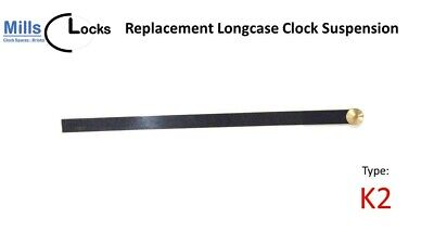 Replacement Brass English Dial Fusee Clock Pendulum Suspension Spring. (Type K2)