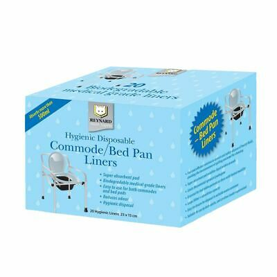 Disposable Bed Pan Commode Liners with Absorbent Pad per 20