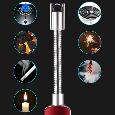 360 Degree Rotation Windproof USB Charge BBQ Camping Electric Lighter Seraphic