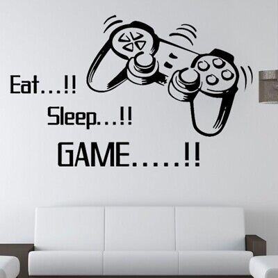 Cute Boys Play Room Version Letter Words Gamer Mural Wall Sticker