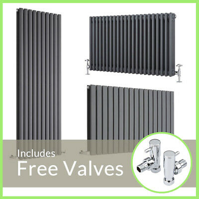 Anthracite Designer Radiator Vertical Horizontal Traditional Flat Oval Column