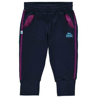 Lonsdale 2 Stripe Three Quarter Jogging Bottoms Navy Age 13 Years DH083 UU 05