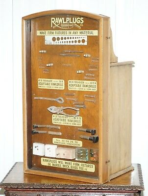 Very Rare 1950's Rawl Plug Sales Cabinet With Till Drawers And Display Section
