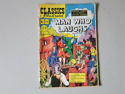 CLASSICS ILLUSTRATED COMIC No. 71 The Man Who Laughs 1/3  HRN 125