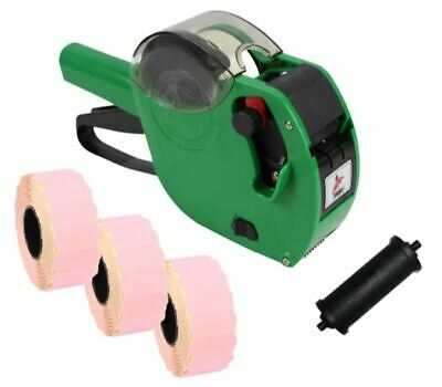Panther PL-2612 6 Digit Pricing Gun with 4,500 Pink Peelable Labels + Spare Ink