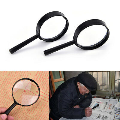 1Pcs Magnifier 60mm Handheld 5X Magnifying Glass Handheld Low Vision Reading Auc
