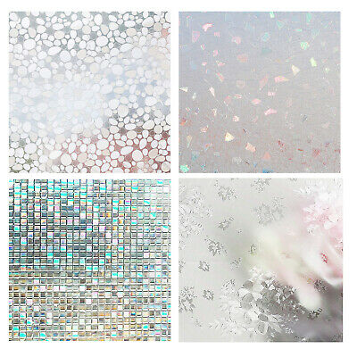 No-glue Static Decor Privacy PVC Window Films Non-adhesive Frosted Glass Sticker Heat Control Anti UV Protective Cover for Home Decor 79 x 18 IN Bracken Housolution 3D Window Films