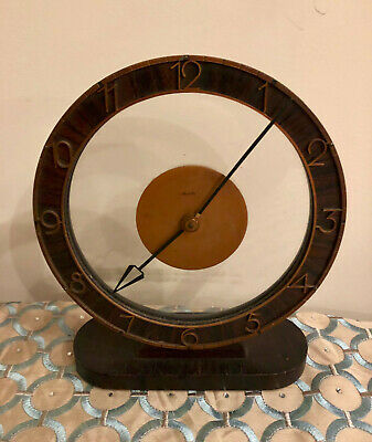 Antique German Retro Vintage Modern Round Clock Mauthe